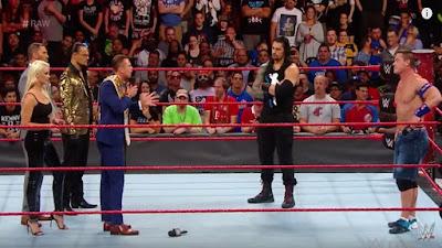 The Miz Raw WWE Samoa Joe John Cena Roman Reigns