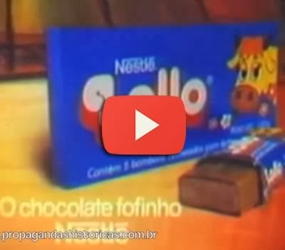 Propaganda do Chocolate Lollo em 1983.