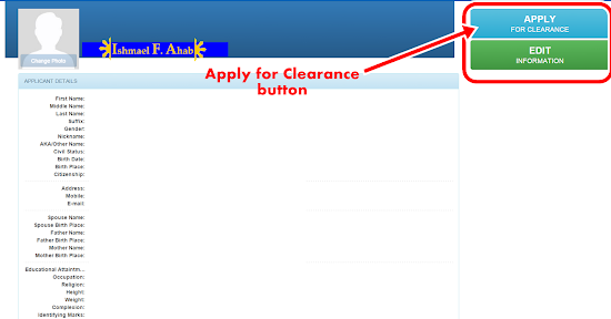 Online NBI Clearance - Step 5