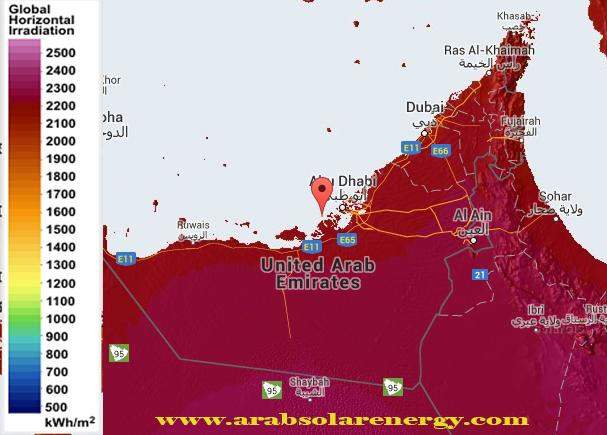 الاشعاع الشمسي في الامارات