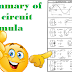 summary of AC circuit formula