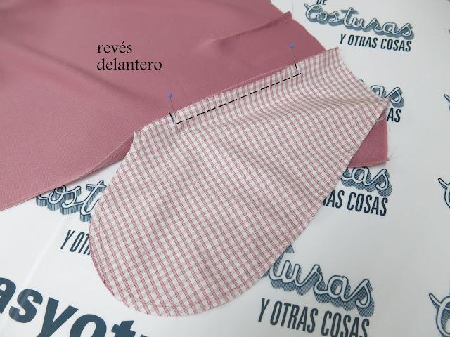 coser bolsillo en la costura cadera