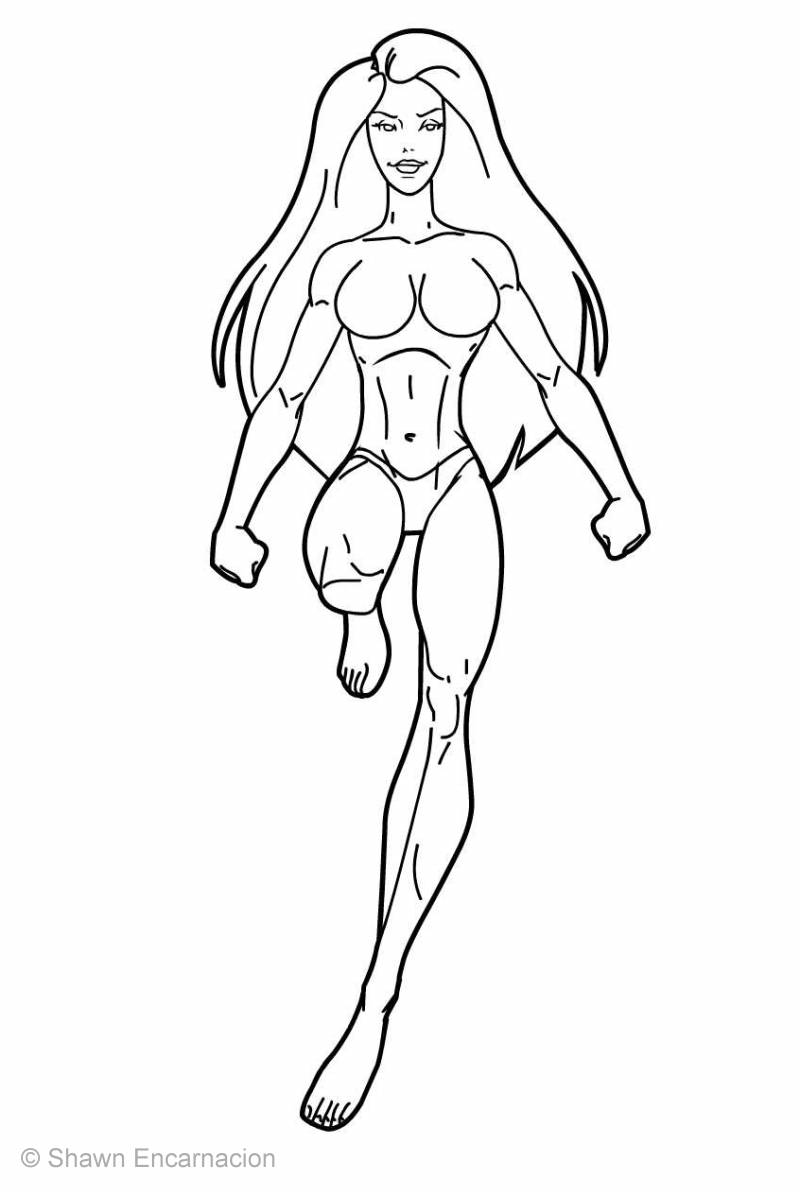 Best Female Superhero Coloring Pages Superhero Coloring Pages