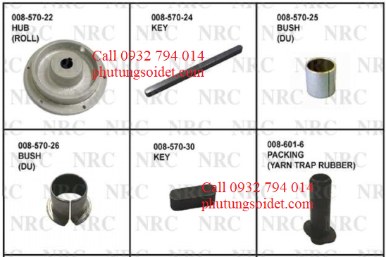 Bush (Du) 008-57-25 Bush (Du) 008-57-26 Key 008-57-30 Packing (Yarn trap rubber) 008-601-6 Boss (Washer Disk) 008-602-4