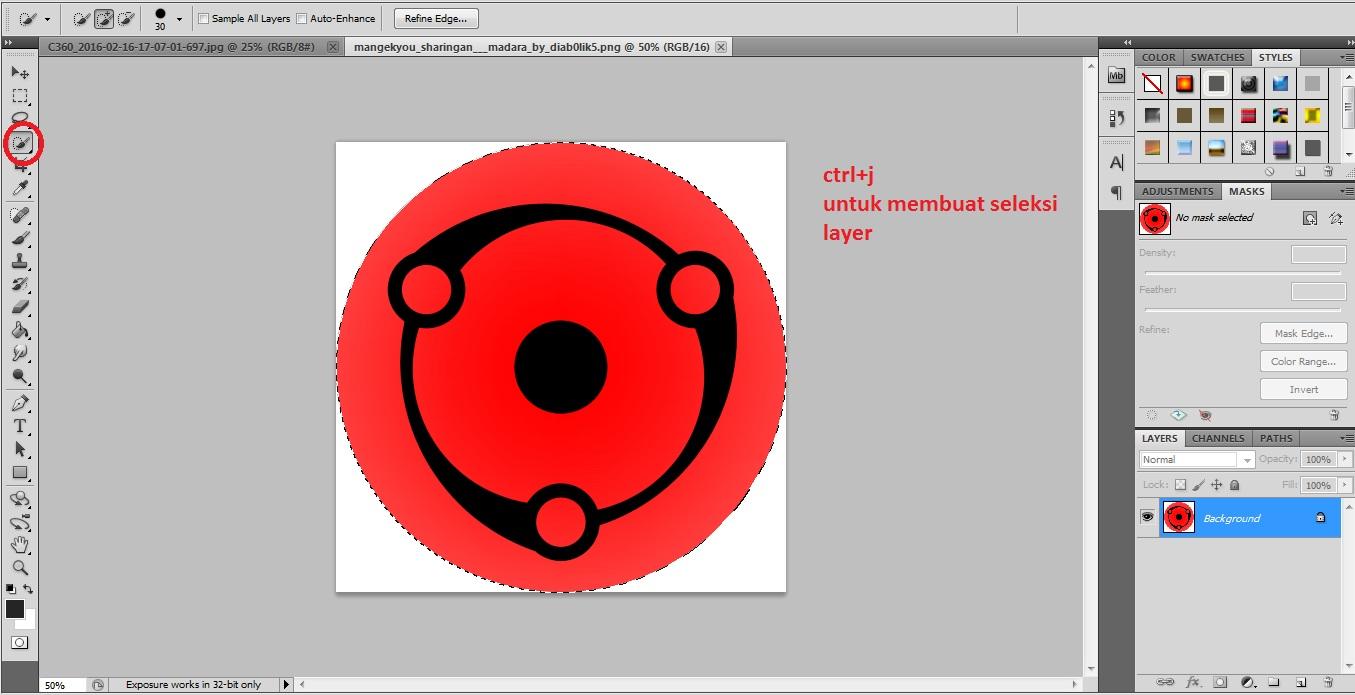 Tutorial Membuat Mata Sharingan Menggunakan Photoshop CS5