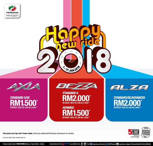 Promosi Perodua Bulan Januari 2018 - Promosi Perodua Awal Tahun 2018