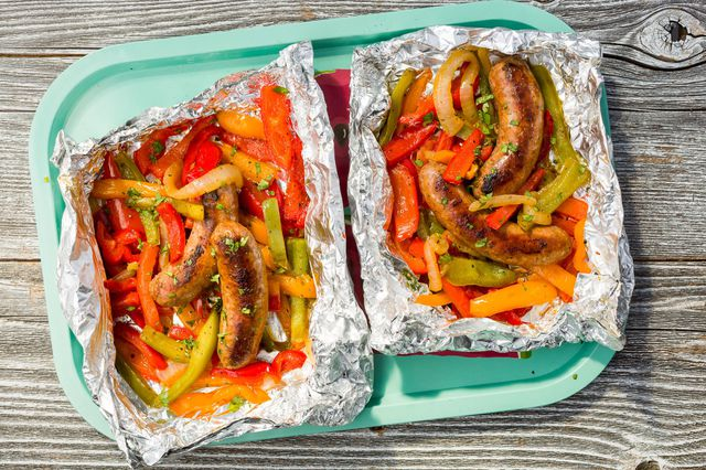 Sausage and Peppers Foil Pack - food-drink-recipes.com