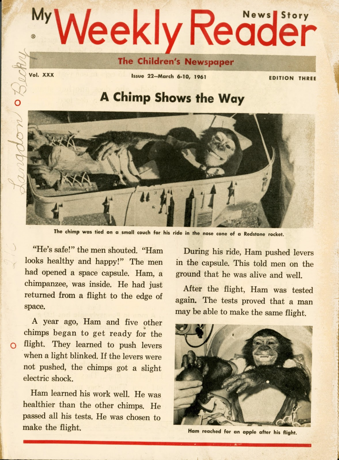 Dreams Of Space Books And Ephemera Quot A Chimp Shows The