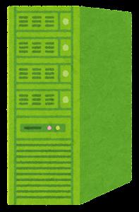 サーバのイラスト(緑)
