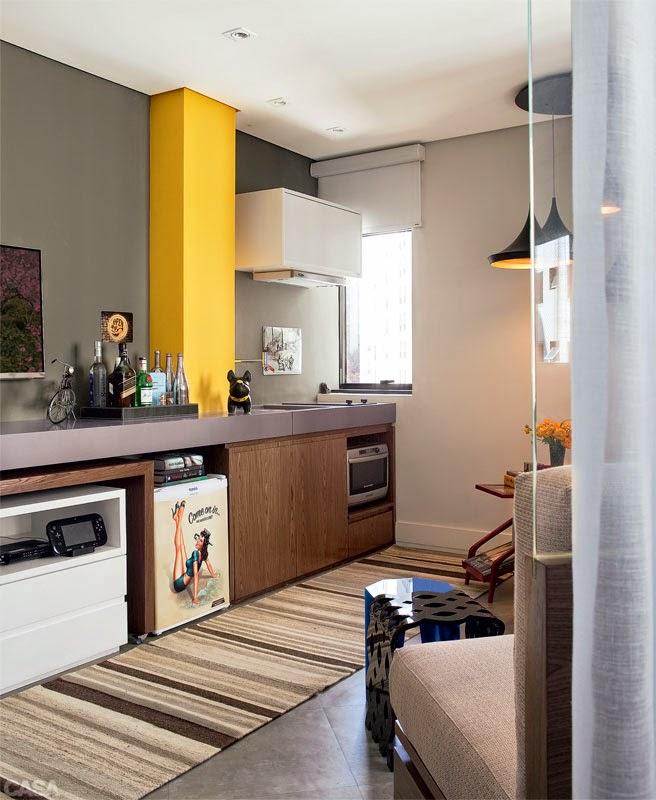 Apartamento Pequeno: Estilo De Vida Masculina : Dicas De Decoração De