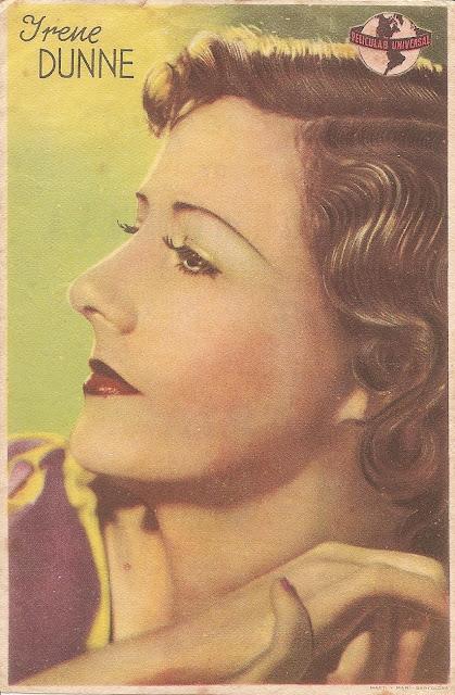 Retrato antiguo de Irene Dunne