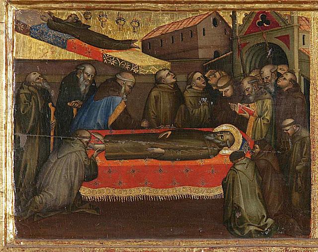 Velório de São Bento. Lorenzo di Niccolò di Martino (1373 – 1412).
