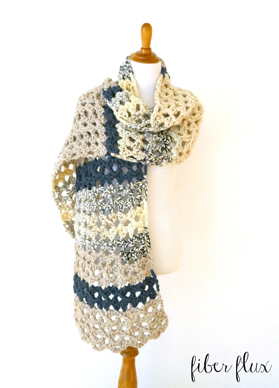 Fiber Flux: Free Crochet Pattern...Mountaintop Super Scarf!