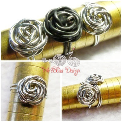 Tutorial for Adjustable Wire Wrap Rose Ring - ring collection