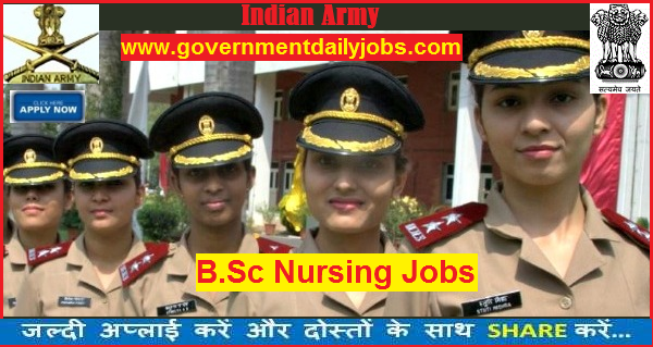 INDIAN ARMY B  SC NURSING 2018 MILITARY NURSING 160 POSTS