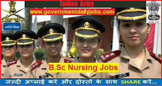 Indian Army B. Sc Nursing Course 2018-Apply Online for 160 Posts