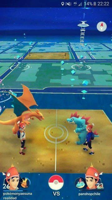 Así piensan que lucirán los combates en Pokémon GO