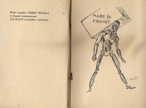 """Fikret Muallâ'nın """"Benerci Kendini Niçin Öldürdü?"""" Çizimleri"""