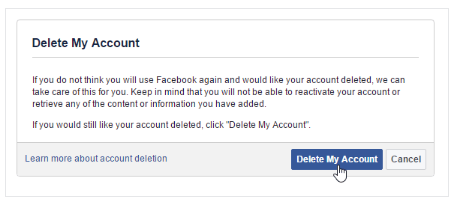 Link to Deactivate My Facebook Account 2017