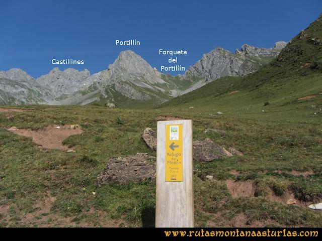 Ruta Tuiza - Portillín - Fontanes: Desvío en las inmediaciones del Refugio hacia la Forqueta del Portillín