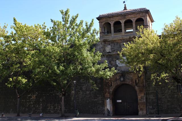 La entrada a la Ciudadela de Pamplona por la avenida del Ejército