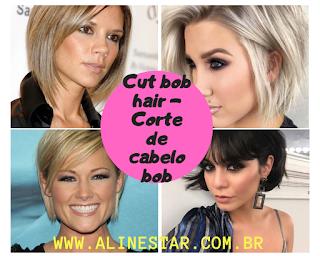 Cut bob hair - Corte de cabelo bob