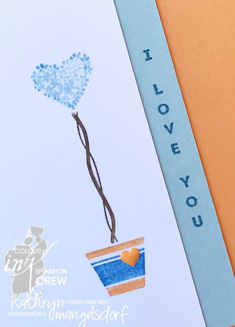 Stampin' Up! Vertical Greetings, Valentine's Card created by Kathryn Mangelsdorf