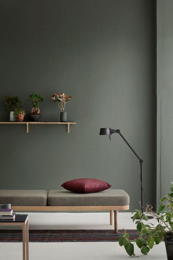 Wandfarbe Grau Grün Mit Farben Einrichten âu2013· Wandfarben, Möbel Und  Accessoires .