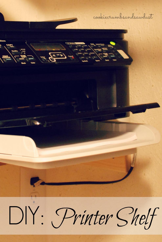 Diy Printer Shelf Built In Closet