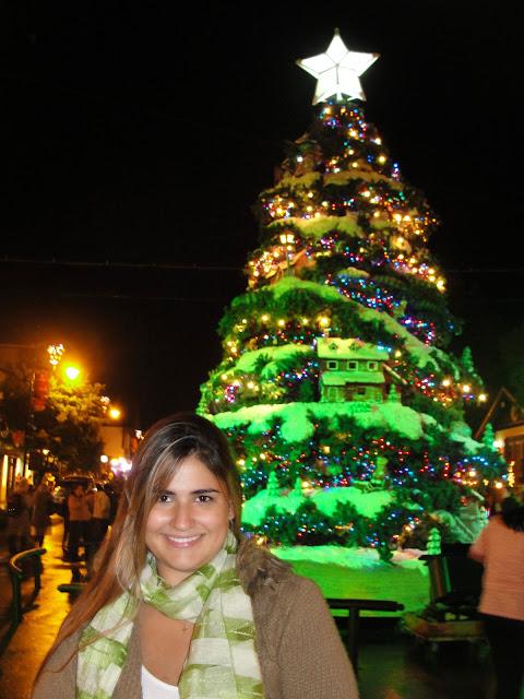 Decoração natalina nas ruas, em dezembro.