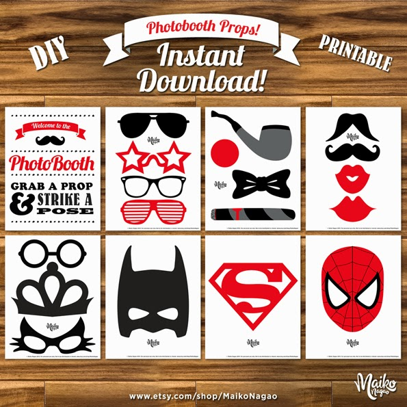 Maiko nagao free printable photobooth props by maiko nagao for Photo booth props template free download