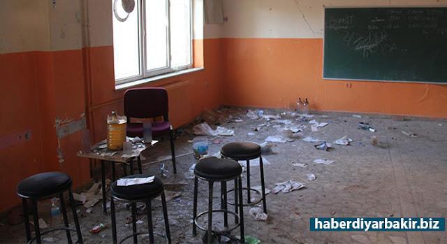 DİYARBAKIR-Diyarbakır'ın merkez Kayapınar ilçesinde bulunan Nazime Tatlıcı İlkokulu, duvarlarında oluşan çatlaklar nedeniyle bir süre önce boşaltılmıştı.