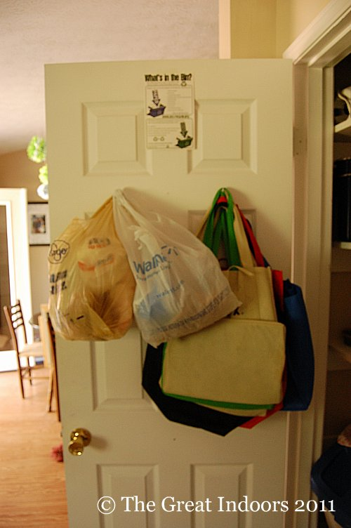 As I Described In That Post Had One Bag Holding Our Reusable Grocery Bags E Easy To Pull Out For A Quick Trash Or Lunch If My Uber Cute