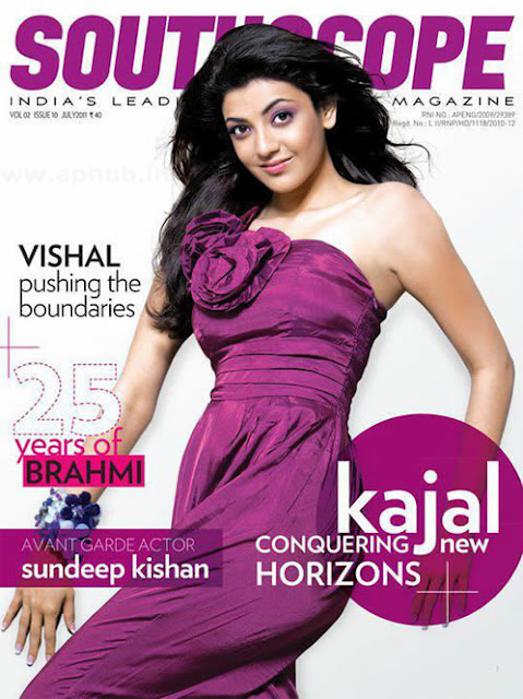 Kajal Agarwal on pages of South Scope Magazine
