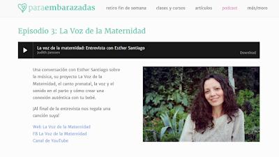 Comunicación Prenatal, Canto Prenatal y Voz en el Parto. Una entrevista para la web paraembarazadas.es