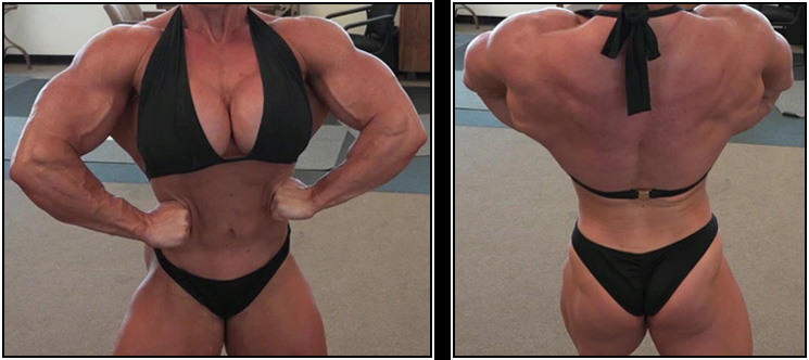 Muscle Phone Sex Therapy with Female Bodybuilder Becky