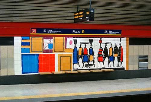 Picoas Metro Station Lisbon.
