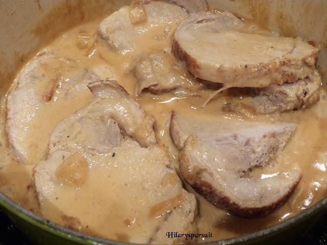 Rôti de porc en cocotte sauce moutarde et miel