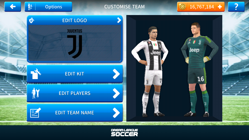 6fd39922f Juventus 2018-2019 Logo   Kits For Dream League Soccer