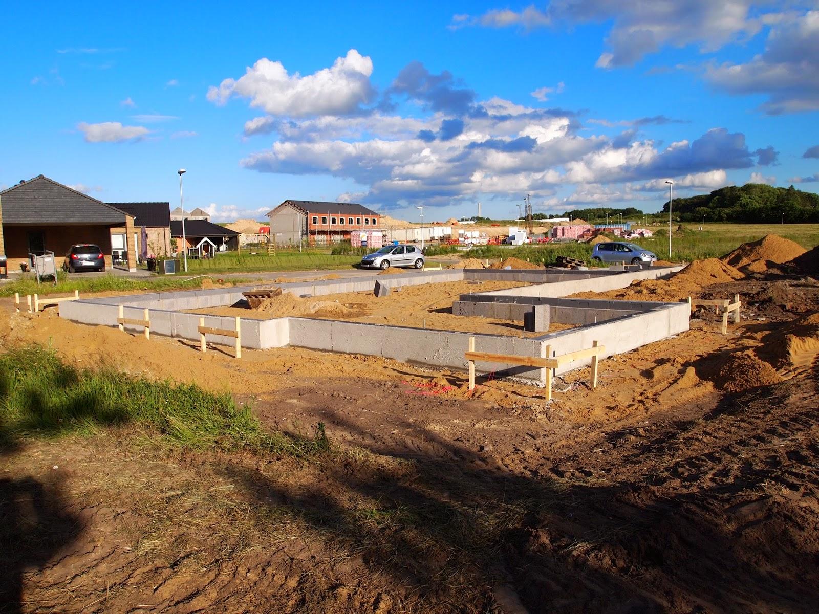 Byg nyt typehus: Omkredsen af huset er lagt