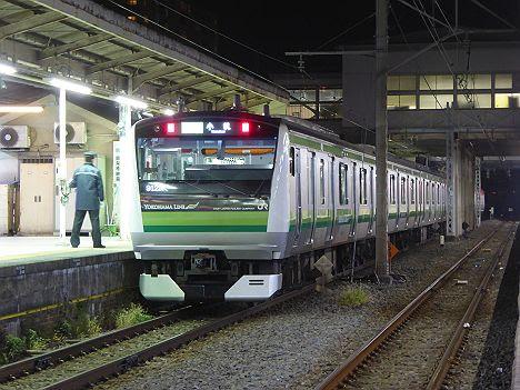 横浜線 小机行き E233系(日産スタジアムサッカー臨時列車)