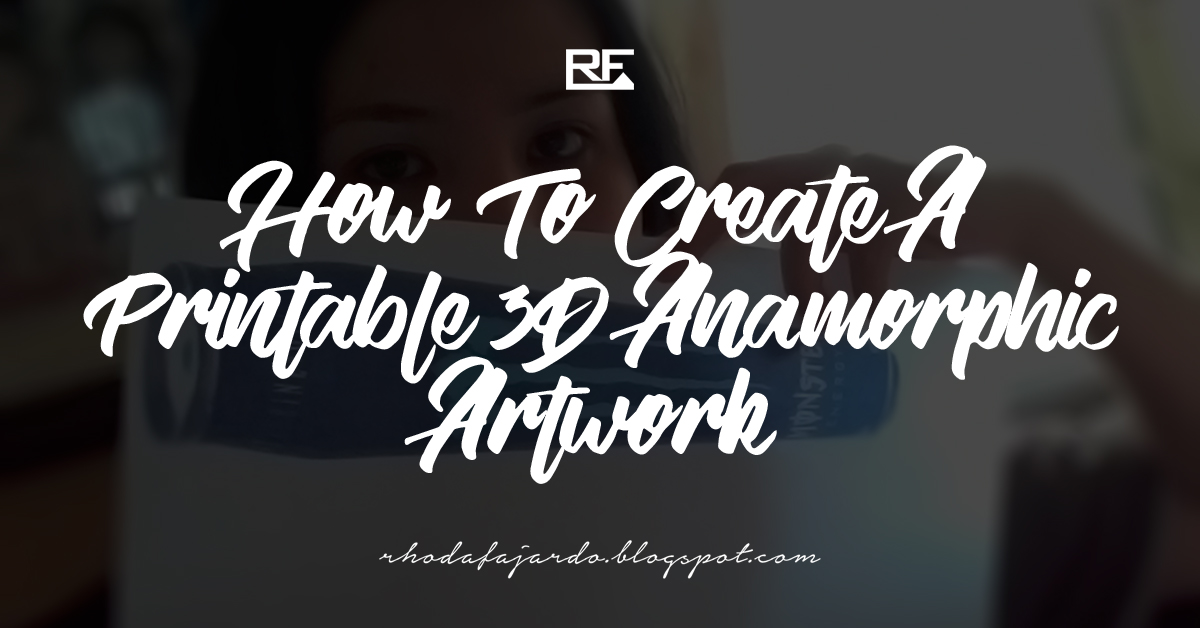 image about How to Create a Printable called Guide: Printable 3D Anamorphic Art