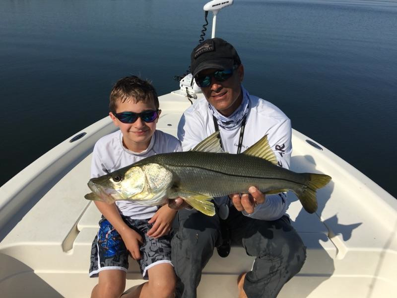 Young Angler With Snook