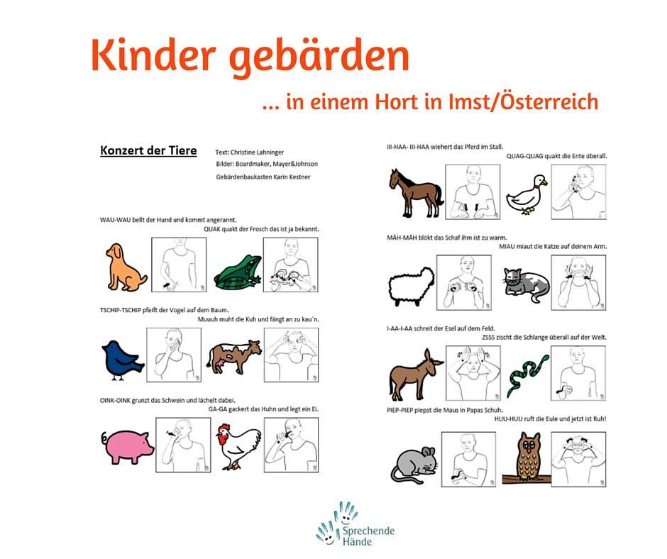 Konzert Der Tiere Fingerspiel Mit Gebarden Kindergebarden