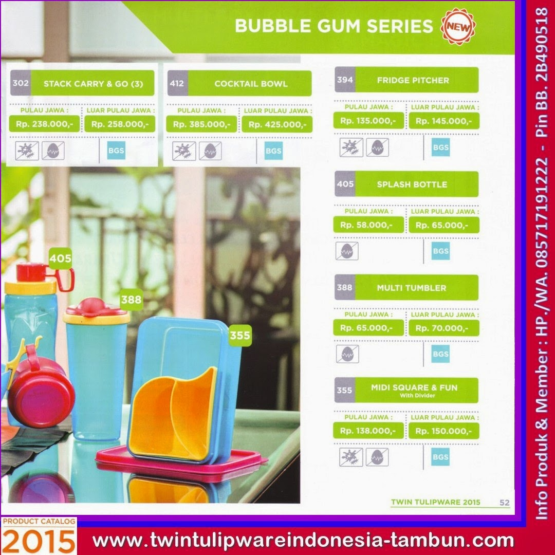 Bubble Gum Series - Katalog Tulipware 2015