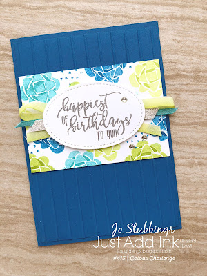 Jo's Stamping Spot - Just Add Ink Challenge #413 using Picture Perfect Birthday by Stampin' Up!