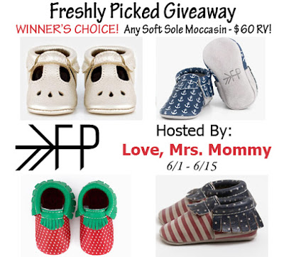 Enter the Freshly Picked Moccasins Giveaway. Ends 6/15