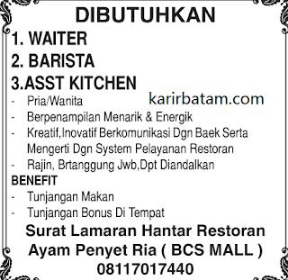 Lowongan Kerja Ayam Penyet Ria BCS Mall