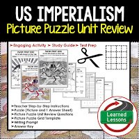 American History Picture Puzzles are great for TEST PREP, UNIT REVIEWS, TEST REVIEWS, and STUDY GUIDES, Imperialism