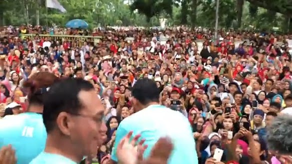 Medan Pecahh, Ribuan Warga Senam Bersama Sandi! Simak Videonya